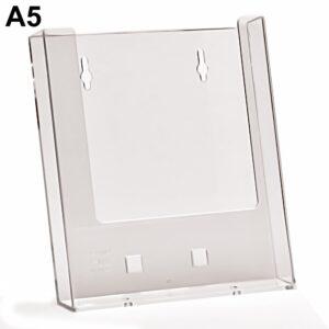 Porta depliant da parete a 1 tasca formato A5 verticale