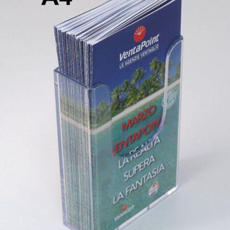 Porta depliant da parete a 1 tasca formato 1/3 A4 verticale