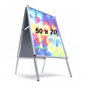 Cornice a cavalletto Bifacciale 50x70 cm., con fondo in METALLO
