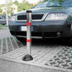 Dissuasore-manuale-a-colonna-per-parcheggio-ambientato