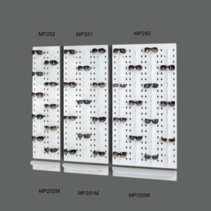 Espositori in opalino bianco da parete per 40 60 80 paia di occhiali