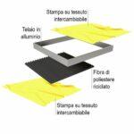 Parete divisoria autoportante con pannello fonoassorbente dettaglio 4